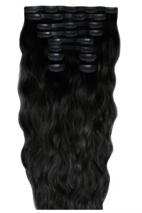 "22"" Beach Wave Double Hair Set - Jet Set Black"