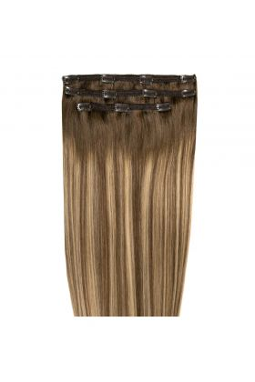 "18"" Deluxe Remy Instant Clip-In  Extensions - Mocha Melt"