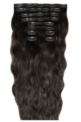 "18"" Beach Wave Double Hair Set - Raven"