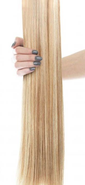 18 Inch Gold Double Weft California Blonde Beauty Works