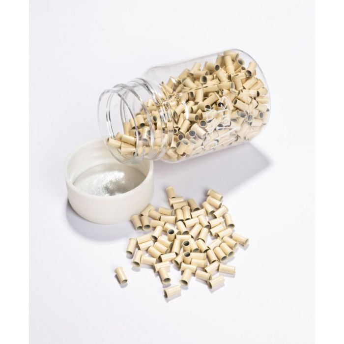 Copper Micro Rings Blonde 100 Pieces