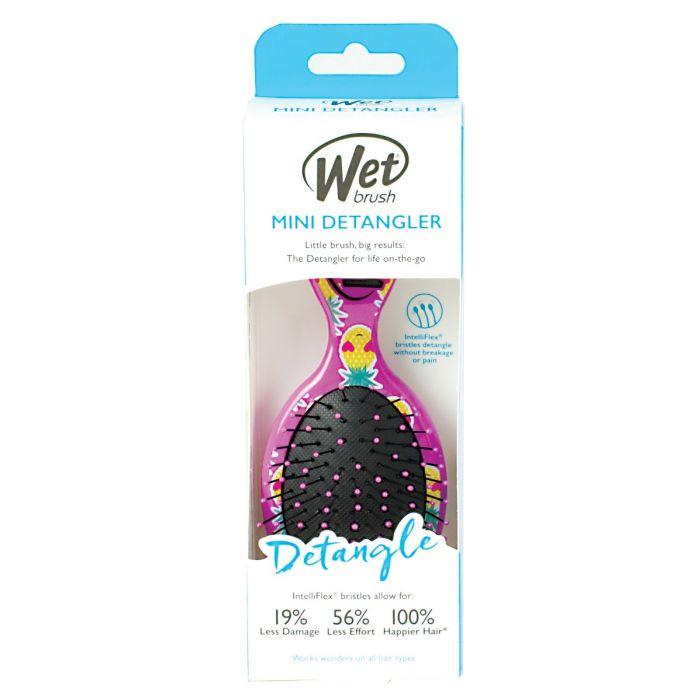 WetBrush Mini Detangler Happy Hair - Smiley Pineapple