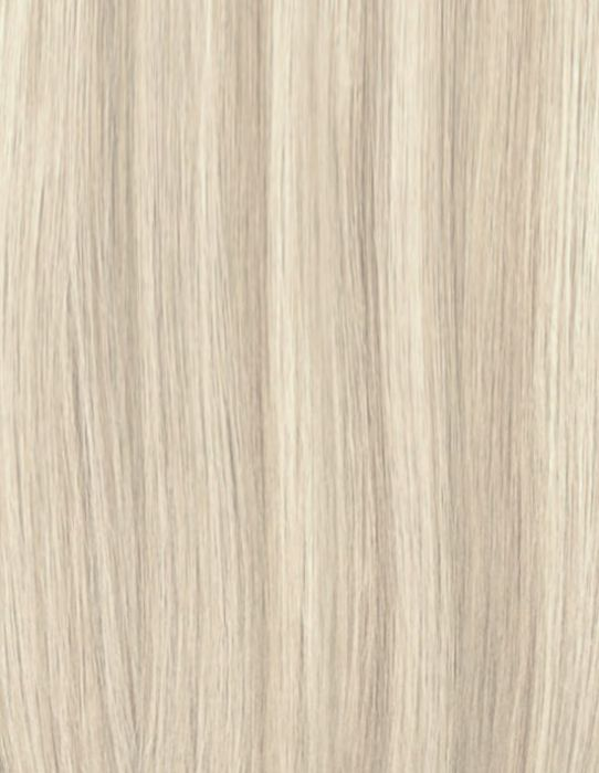 100% Remy Colour Swatch Iced Blonde 613/18a