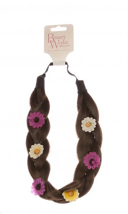 Flower Braid Headband - Caramel 6