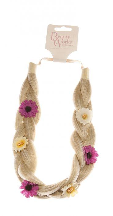 Flower Braided Headband - LA Blonde 613/24