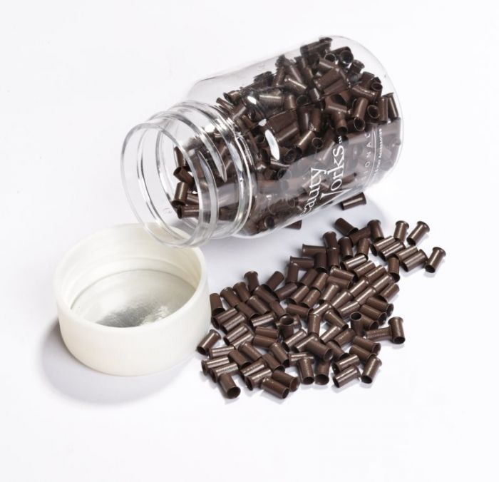 Copper Micro Rings Brown 100 Pieces