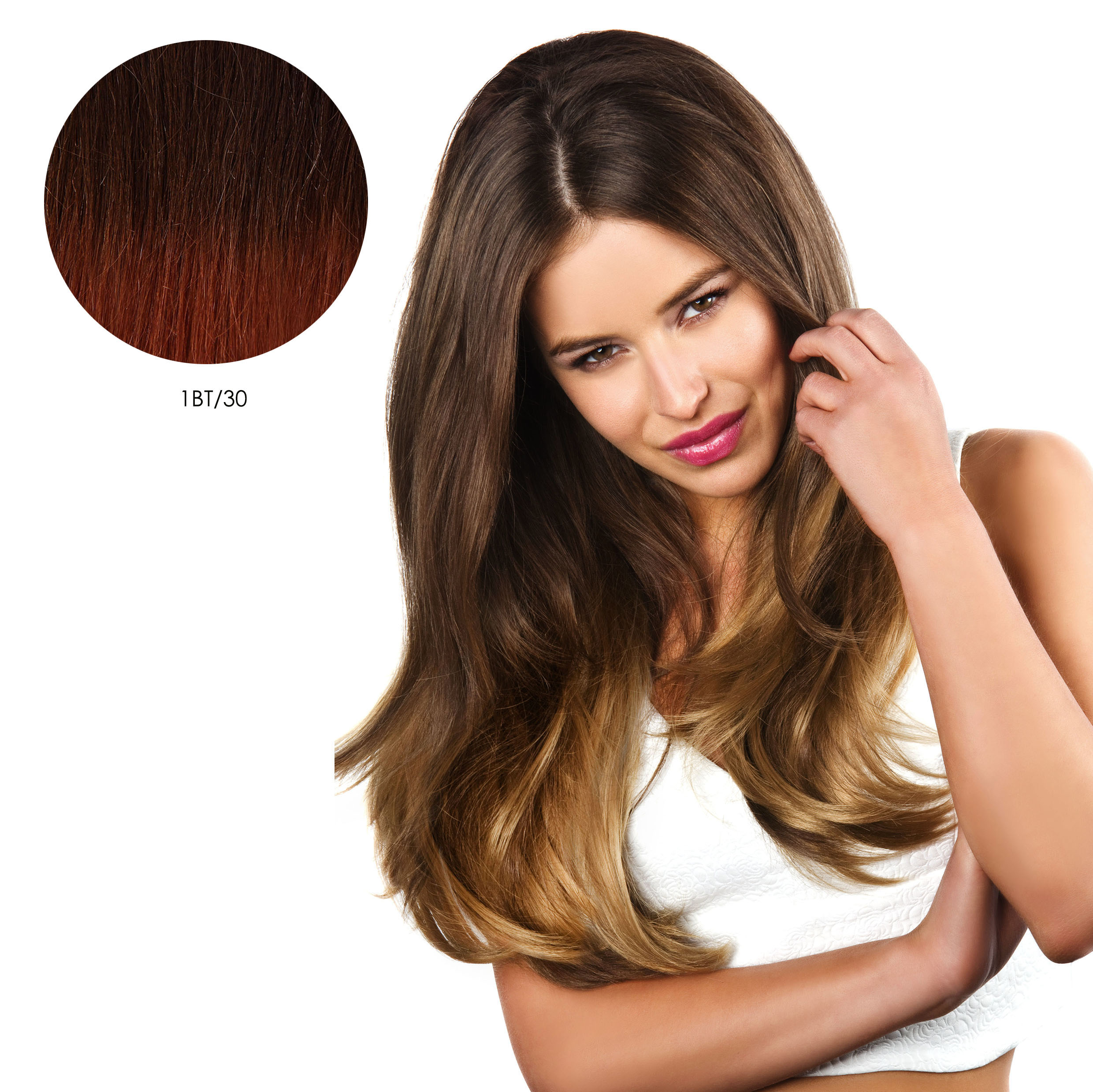 Double Volume Straight Instant Weave - Ombre 1BT/30