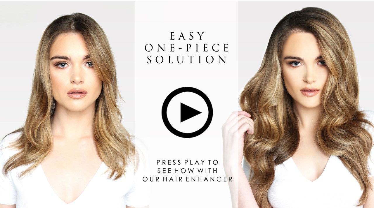 A simple one piece solution for thin hair