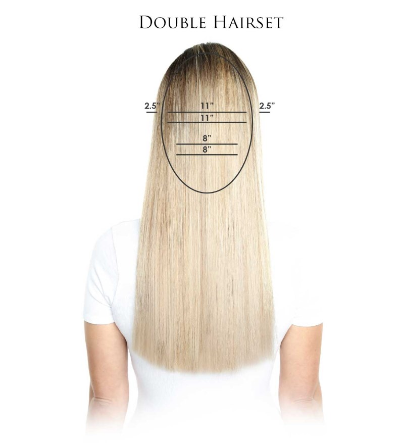 Beauty Works Double Hair Set Clip-ins