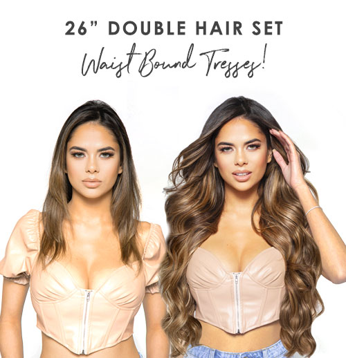 NEW IN - Beauty Works 26 inch Double Hair Set