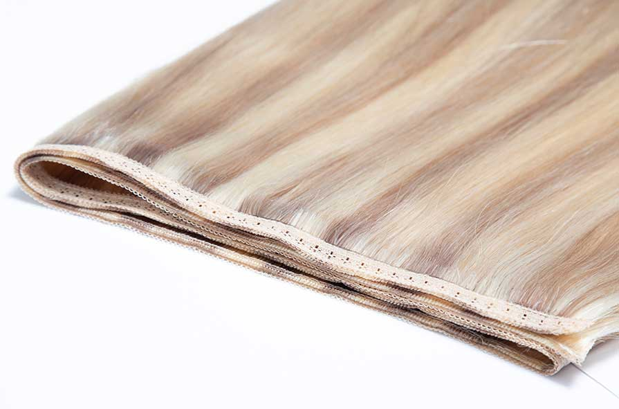 Beauty Work Professional Weft Extensions Gold Double Weft