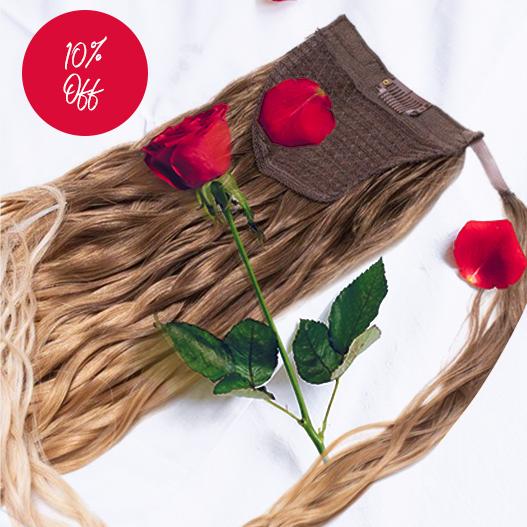 Beauty Works Valentines Shop Ponytails